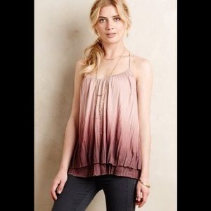 Anthropologie layered pink ombré Camisole 💗
